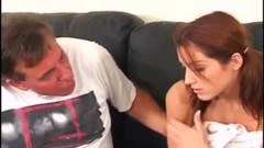 Redhead teen fucked by her step daddy