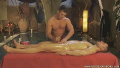 Gay handjob and massage in here