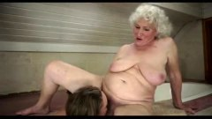 Dirty mature dyke making love to teen