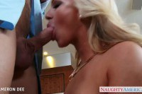Awesome blonde Cameron Dee fucked and facialized