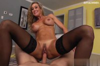 Gorgeous blonde doing hard cock