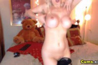 Sweet amateur blonde girl pleasuring herself on cam