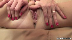 Hot curly haired doll anally pounded by two dudes