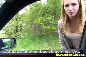 Superb blonde teen fucked for a ride