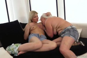 Kitty Rich and Judi having old-young lesbian sex