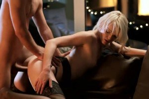 Elegant blonde Zoey Paige fucked from behind