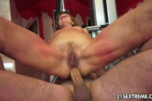 Bombastic mature fucked in the ass by a younger stud