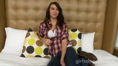 Cute teen Taylor wants to make some extra dollars to pay off her parents.