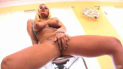 Blonde beauty Angelina Ash pussy hammered