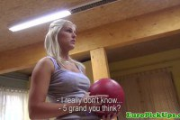 Picked up blonde fucked on the bowling alley