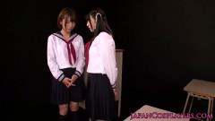 Yummy Japanese schoolgirls playing
