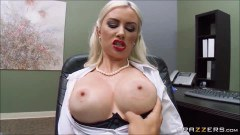 Bound busty secretary fucked in the office