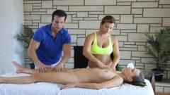 Lessons In Massage Turns Threesome Fuck