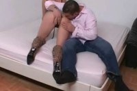 Delicious Dutch blonde sucks and rides a meat pole