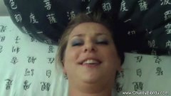 Fatty amateur fucked and creamed POV style