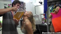 Sexy college babes partying
