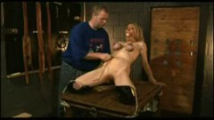Blonde sex slave takes harsh punishment from master