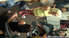College Students Having A Nasty Initiation Party