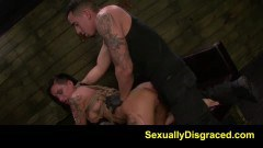 Tattooed BDSM chick Alby Rydes likes it rough - duration 08:00