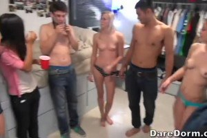 Dorm Party Girls Showing Off A Little Meat