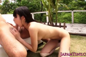 Lovely Japanese petite Mihono Sakaguchi fucked outdoors