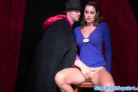 Mature slut banged by the magician