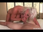 Naughty Granny sucking young dong