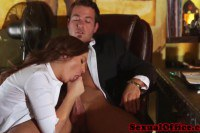 Sexy secretary gets fucked in the office