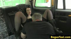 Lovely British amateur creampied on the back seat