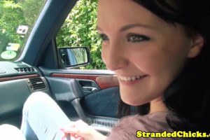 Lovely brunette taking a ride and getting fucked