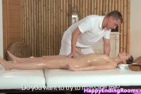 Classy client pumped by her masseur