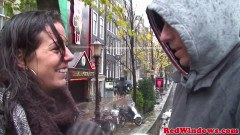 Horny tourist getting laid by a real hooker in Amsterdam