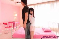 Asian teen Aika has a new friend to play with