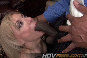 Blonde Hot MILF gets her holle Pounded by Huge Black Cock