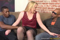 Interracial foursome for the busty babe Harmoni Kalifornia