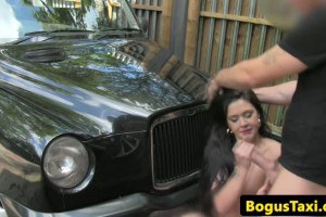 Sexy British amateur fucked by the taxi driver