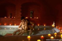 Horny indian couple fucked in the tub and on the bed