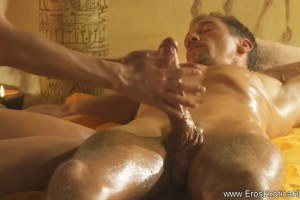 Brunette Performing Erotic Cock Massage
