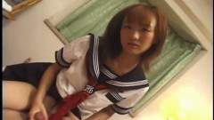 Japanese lady fucked and fingered