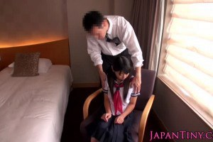 Japanese hot school girl fucked by business man