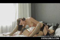 Two fatal brunette babes playing lesbian