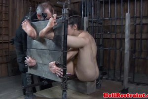 Master tortured pretty slave and restrained