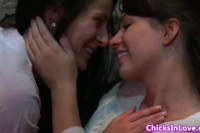 Sweet teens in lesbian loving