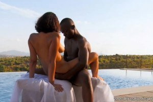 Black Hot Couple Making Love Outdoor