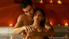 Indian Couple Performing Erotic Sensual Massage