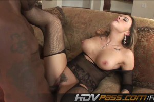 Horny rich wife nailed by a black cock