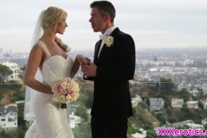 Gorgeous blonde bride gets some