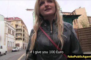 Sexy Hungarian slut paid to suck