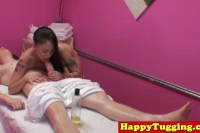 Asian Masseuse Spooned By Her Client