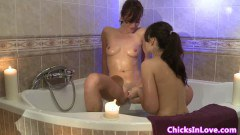 Lesbian couple eating pussy
